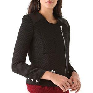 [IRO] Phoebe Leather Panel ZIP Moto Jacket (0)